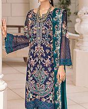 Navy Blue Chiffon Suit- Pakistani Chiffon Dress
