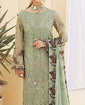 Pistachio Green Chiffon Suit- Pakistani Designer Chiffon Suit