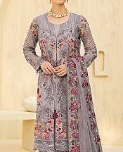 Silver Chiffon Suit- Pakistani Designer Chiffon Suit