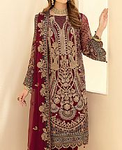 Crimson Chiffon Suit- Pakistani Chiffon Dress