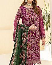 Egg Plant Chiffon Suit- Pakistani Chiffon Dress