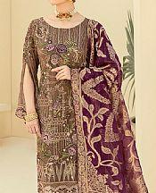 Coffee Brown Chiffon Suit- Pakistani Chiffon Dress