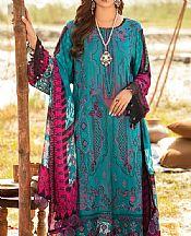 Teal Linen Suit- Pakistani Winter Dress