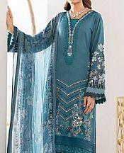 Denim Blue Viscose Suit- Pakistani Winter Clothing