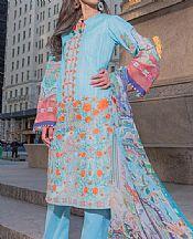 Ice Blue Lawn Suit- Pakistani Lawn Dress