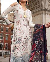 Ivory Lawn Suit- Pakistani Designer Lawn Dress