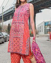 Coral/Pink Lawn Suit- Pakistani Lawn Dress