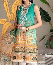 Sea Green Lawn Suit (2 Pcs)- Pakistani Designer Lawn Dress