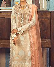 Ivory Jacquard Suit- Pakistani Designer Chiffon Suit