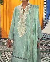 Light Turquoise Jacquard Suit- Pakistani Designer Chiffon Suit