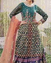 Teal Net Suit- Pakistani Chiffon Dress