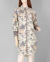Off-white Lawn Kurti- Pakistani Designer Lawn Dress