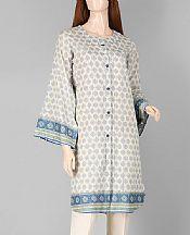 Light Grey Lawn Kurti- Pakistani Designer Lawn Dress