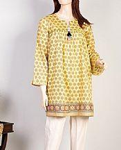 Light Golden Lawn Kurti- Pakistani Lawn Dress