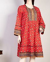 Red Lawn Kurti- Pakistani Lawn Dress