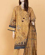 Sand Gold Lawn Suit (2 Pcs)- Pakistani Designer Lawn Dress