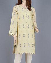 Cream Jacquard Kurti- Pakistani Designer Lawn Dress