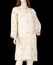 Ivory Jacquard Kurti- Pakistani Lawn Dress