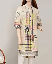 Ivory Cambric Kurti- Pakistani Winter Clothing