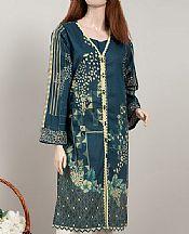 Teal Blue Cambric Kurti- Pakistani Winter Clothing