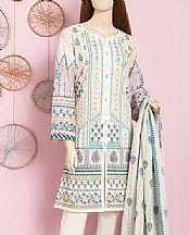 Off-white Cambric Suit (2 Pcs)- Pakistani Winter Dress