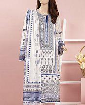 White Cambric Suit- Pakistani Winter Dress