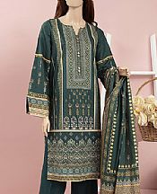Teal Cambric Suit- Pakistani Winter Clothing