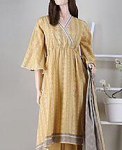 Sand Gold Cambric Suit- Pakistani Winter Dress