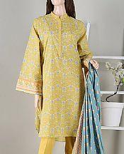Yellow Cambric Suit- Pakistani Winter Clothing