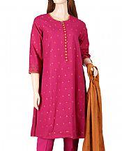 Magenta Jacquard Suit- Pakistani Lawn Dress