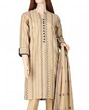 Tan Jacquard Suit- Pakistani Designer Lawn Dress