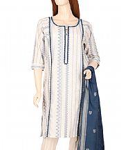 Off-white Jacquard Suit- Pakistani Lawn Dress