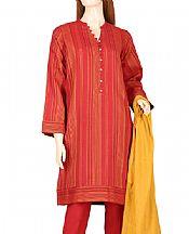 Red Jacquard Suit- Pakistani Designer Lawn Dress