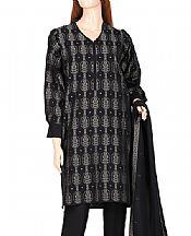 Black Jacquard Suit- Pakistani Designer Lawn Dress