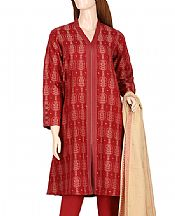 Scarlet Jacquard Suit- Pakistani Lawn Dress