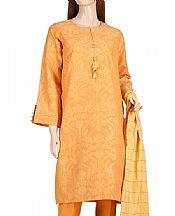 Orange Jacquard Suit- Pakistani Designer Lawn Dress