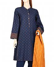 Navy Blue Jacquard Suit- Pakistani Lawn Dress