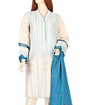Ivory Jacquard Suit- Pakistani Lawn Dress