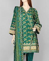Teal Lawn Suit- Pakistani Lawn Dress