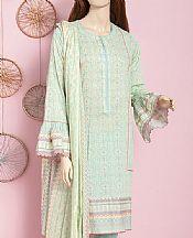 Light Green Lawn Suit- Pakistani Designer Lawn Dress
