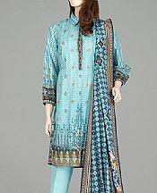 Light Turquoise Lawn Suit- Pakistani Lawn Dress