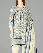 White Lawn Suit (2 Pcs)- Pakistani Lawn Dress