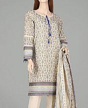 Off-white Lawn Suit- Pakistani Lawn Dress