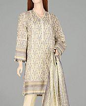 Off-white Lawn Suit- Pakistani Designer Lawn Dress