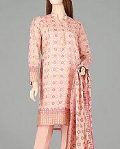 Peach Lawn Suit- Pakistani Designer Lawn Dress