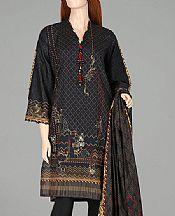 Black Lawn Suit (2 Pcs)- Pakistani Designer Lawn Dress