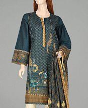 Teal Blue Lawn Suit (2 Pcs)- Pakistani Lawn Dress