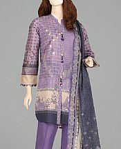 Lavender Lawn Suit (2 Pcs)- Pakistani Designer Lawn Dress