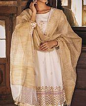 White Lawn Suit (2 Pcs)- Pakistani Designer Lawn Dress