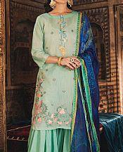 Mint Green Cotton Suit (2 Pcs)- Pakistani Lawn Dress